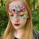 Rainbow Butterfly Face