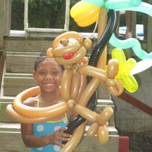 Monkey on a Palm Tree $20 Safari Art